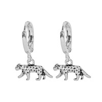 Fierce Leopard Earring Silver