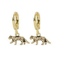 Fierce Leopard Earring Gold