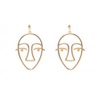 big face earrings