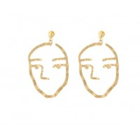 Small face earrings